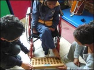 Niños en una escuela de Ecuador