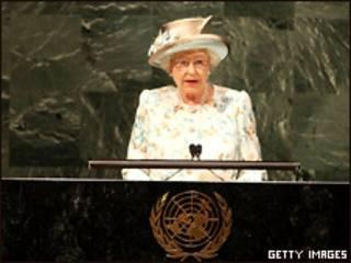 Королева во время выступления в ООН