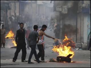 فائل فوٹو، کشمیر میں احتجاج