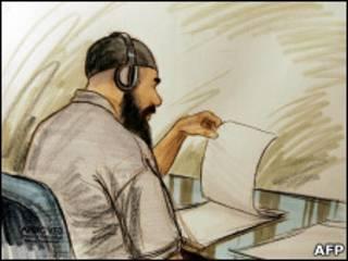 تصویر القوصی در دادگاه