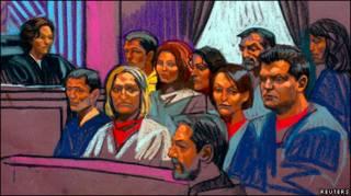 Во время суда в Нью-Йорке