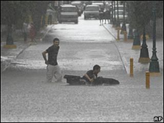 Lluvias en Nuevo Laredo, México