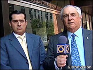 El presidente de Globovision y su hijo
