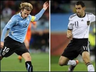 Uruguaio Diego Forlan e alemão Miroslav Klose