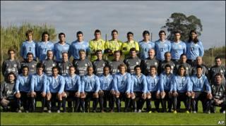 La plantilla de Uruguay