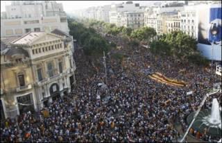 تظاهرة في برشلونه