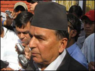नेपाली कांग्रेसका नेता रामचन्द्र पौडेल