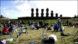 दक्षिण प्रशांत में दिखा पू्र्ण सूर्य ग्रहण