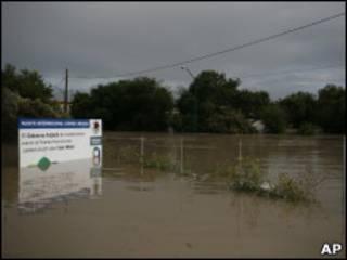 Área inundada no norte do México