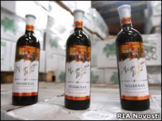 Бутылки молдавского вина