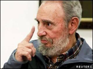 O líder cubano Fidel Castro durante entrevista transmitida nesta segunda-feira (Reuters, 12 de julho)