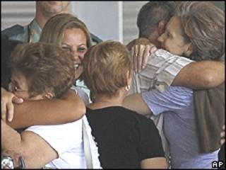 Dissidentes cubanos chegando em Madri