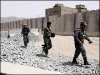 Афганские полицейские в Кандагаре