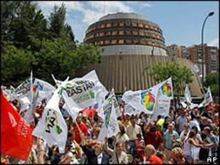 Manifestación frente al Tribunal Constitucional (Archivo)
