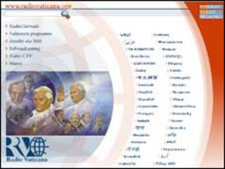 La página web de Radio Vaticano