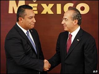 José Blake y Felipe Calderón