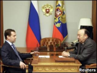 Дмитрий Медведев и Муртаза Рахимов