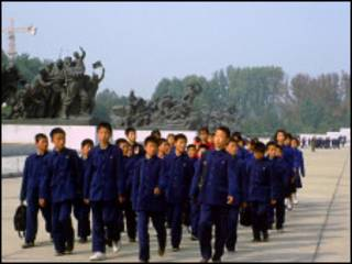 школьники в Пхеньяне