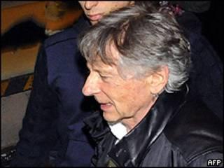 O cineasta Roman Polanski fez sua primeira aparição pública (foto: AFP)