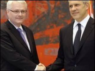 Boris Tadic dan Ivo Josipovic