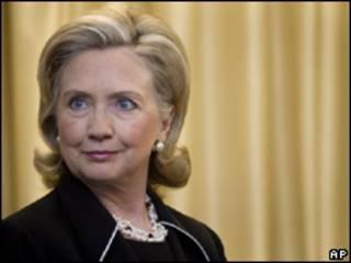 La secretaria de Estado de EE.UU., Hillary Clinton