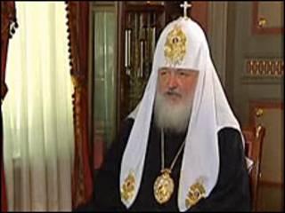 Патріарх Кирило під час інтрев'ю українським журналістам