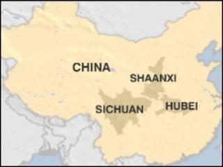 Peta  Cina