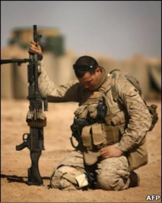 Soldado americano em combate