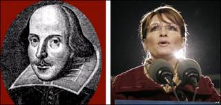 William Shakespeare (imagen de PA) y Sarah Palin (copyright: AP)