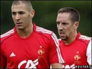 Karim Benzema e Franck Ribery