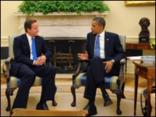 David Cameron da Barrack Obama