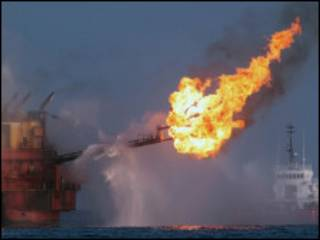 چاه نفت در خلیج مکزیک