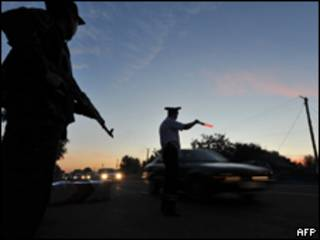 вооруженные люди близ Бишкека