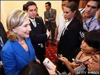 Secretaria de estados De Estados UNidos, Hillary Clinton.