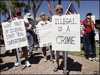 Protesta a favor de la ley
