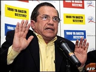 Ricardo Patiño, canciller de Ecuador (foto de archivo)