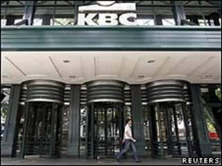 Frontis del banco belga KBC