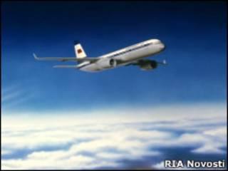 Репродукция пассажирского самолета Ту-204