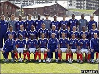 Fotografía de grupo de la selección francesa que disputó el Mundial.