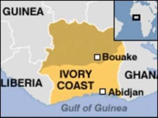 Taswirar Ivory Coast
