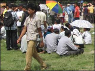 नेपाली युवाहरूको एक समूह