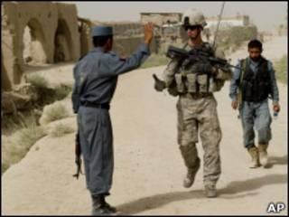 Солдат в Афганистане