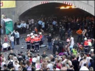 Terowongan di kota Duisburg