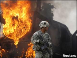 افغانستان کې پر امریکايي پوځيانو برید