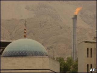 Campo de produção de gás no Irã (arquivo)
