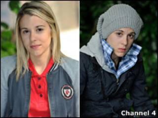 A personagem como Jasmine e como Jason (Foto Channel 4)