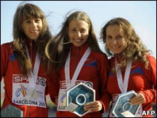 Девушки с медалями