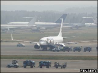 Aviões estacionados no aeroporto de Domodedovo, em Moscou (Reuters, 28 de julho)