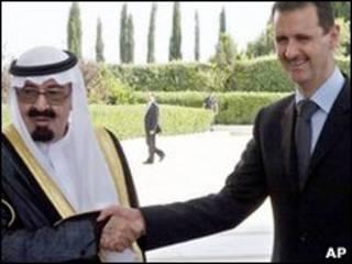 بشار اسد و ملک عبدالله