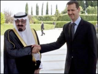 Sarki Abdullah da Shugaba Assad